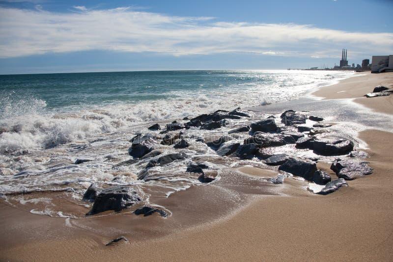 Zonnige dag op Baleaarse overzees royalty-vrije stock afbeeldingen