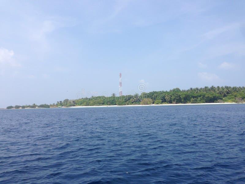 Zonnige de Maldiven stock afbeelding