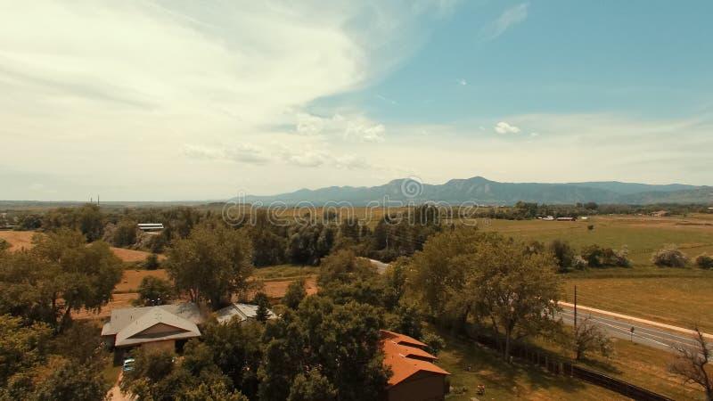 Zonnige die middag in Kei Colorado wordt geschoten stock afbeeldingen