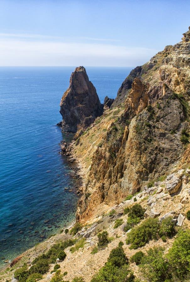 Zonnige mening van de Zwarte Zee royalty-vrije stock afbeelding