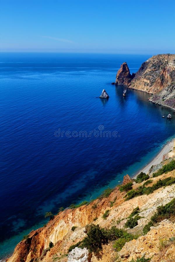 Zonnige mening van de Zwarte Zee stock foto