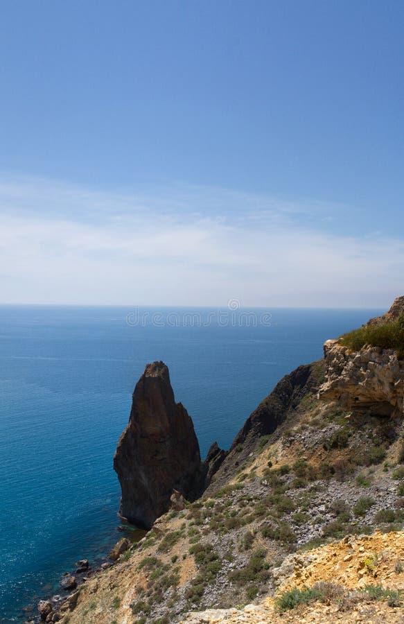 Zonnige mening van de Zwarte Zee royalty-vrije stock fotografie
