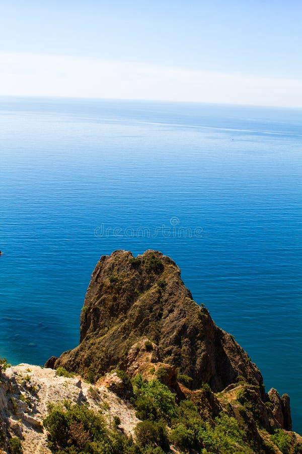 Zonnige mening van de Zwarte Zee stock afbeeldingen