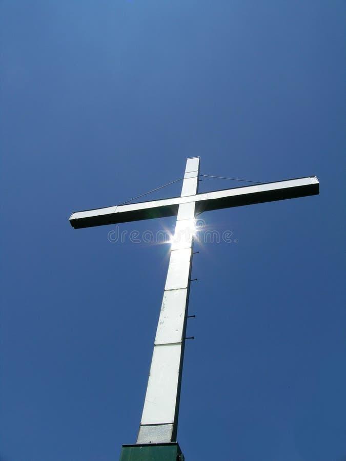 Zonovergoten kruis, royalty-vrije stock fotografie