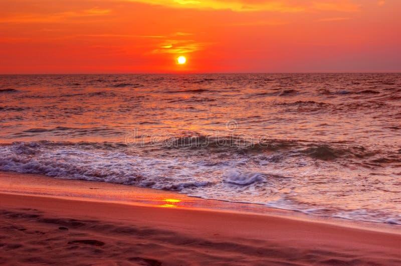 Zonsondergang. stock afbeelding