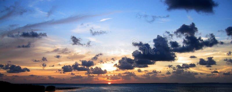 Zonsondergang in Key West royalty-vrije stock afbeelding