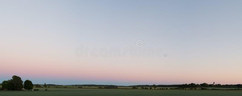 Zonsondergang achter me 2 stock fotografie