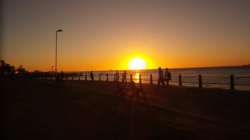 Zonsondergang in Afrika stock fotografie