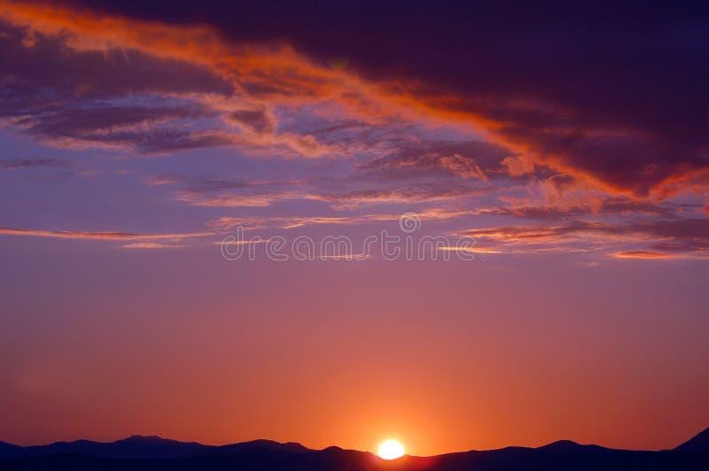 Zonsondergang Afrika stock fotografie