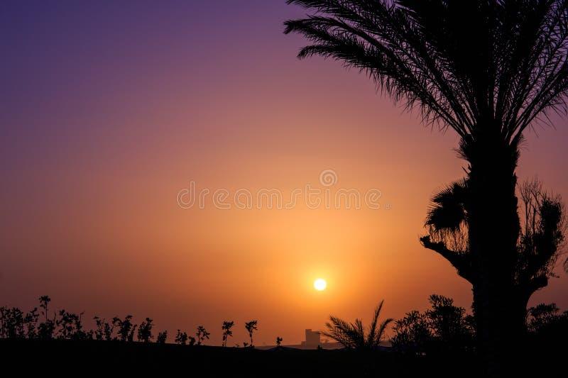 Zonsondergang in Agadir, Marokko royalty-vrije stock foto