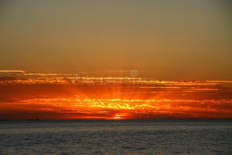 Zonsondergang in Australië royalty-vrije stock afbeeldingen