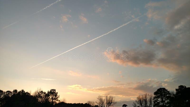 Zonsondergang in Bavon stock foto