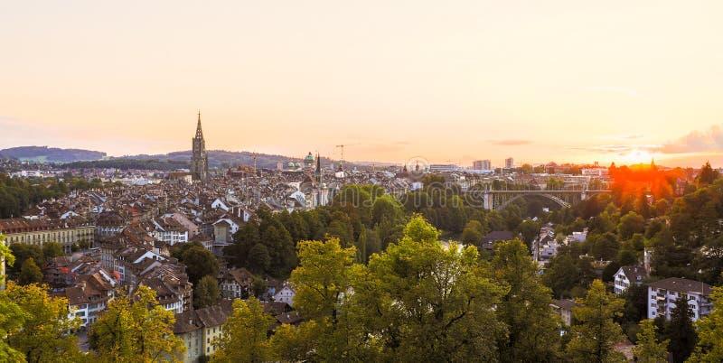 Zonsondergang in Bern royalty-vrije stock foto's