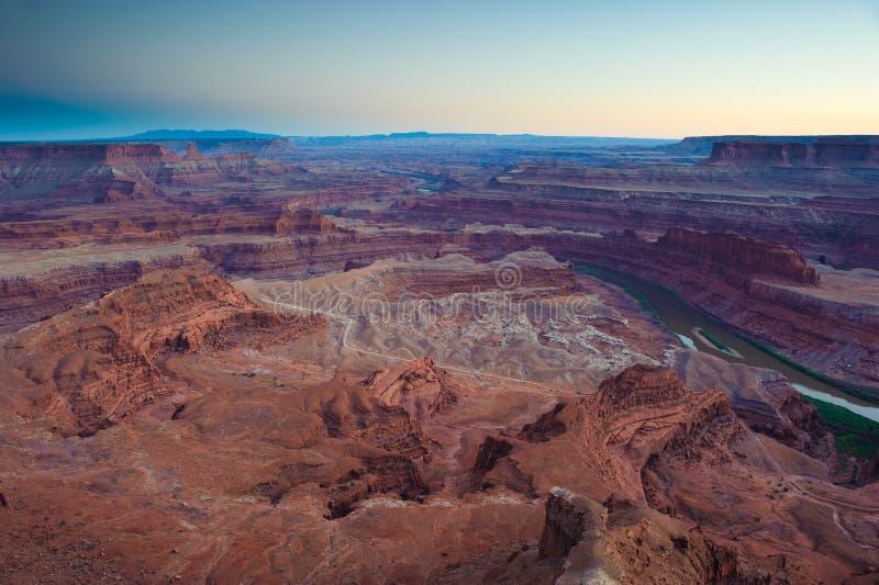 Zonsondergang bij canyonlands royalty-vrije stock fotografie