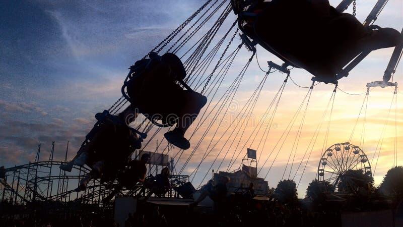 Zonsondergang bij de Markt stock foto's