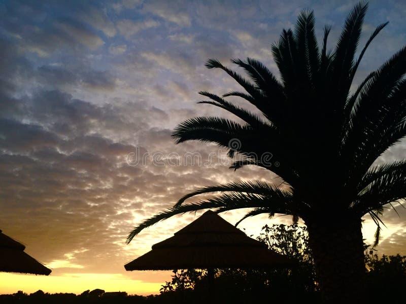 Zonsondergang bij de Pool stock afbeelding