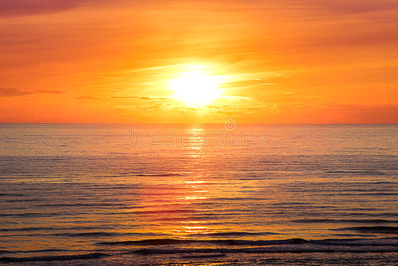 Zonsondergang bij henne-Bundel 6 stock afbeeldingen
