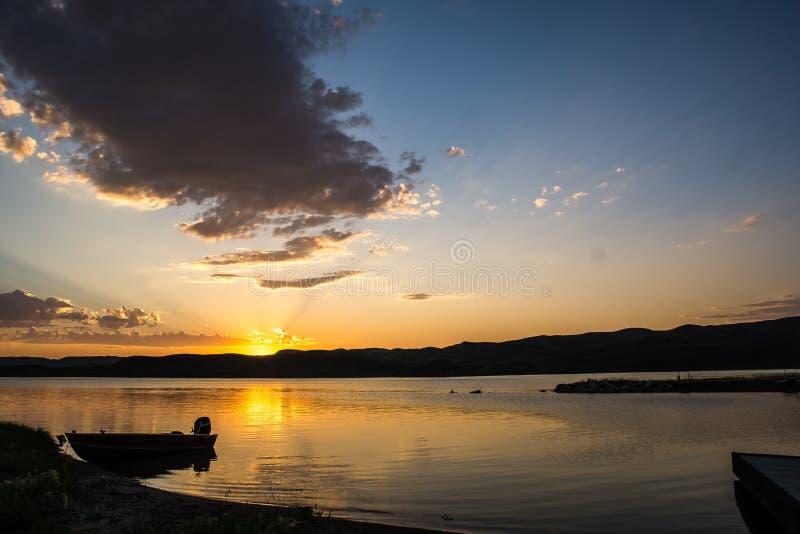 Zonsondergang bij het Dok stock foto's