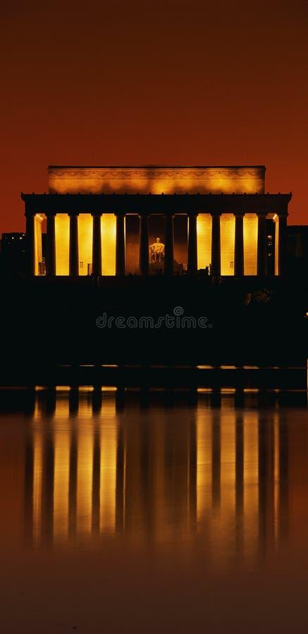 Zonsondergang bij het Gedenkteken van Lincoln royalty-vrije stock foto