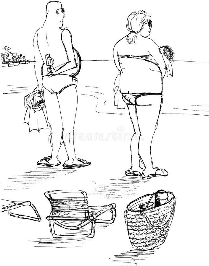 Download Zonsondergang Bij Het Strand Stock Illustratie - Illustratie bestaande uit kalmte, zonsondergang: 39118069