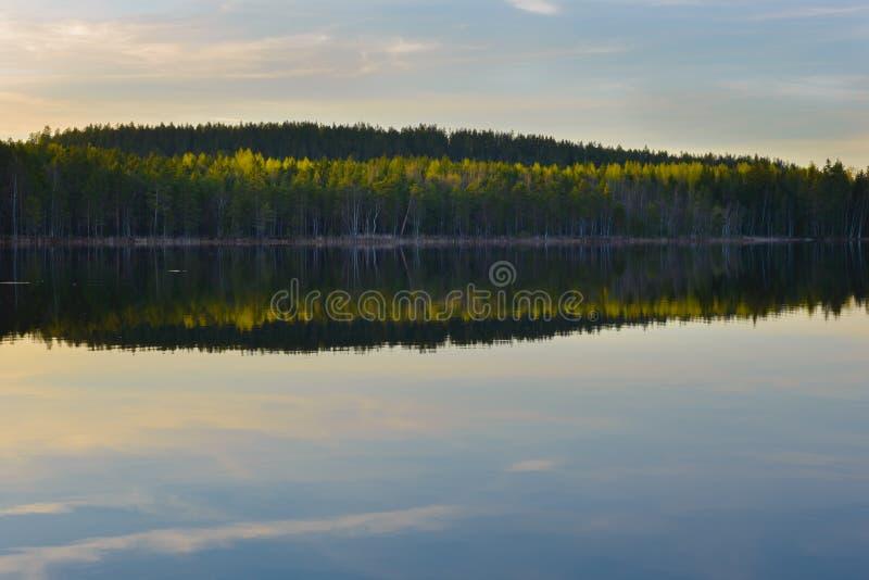Zonsondergang bij nationaal park royalty-vrije stock afbeeldingen