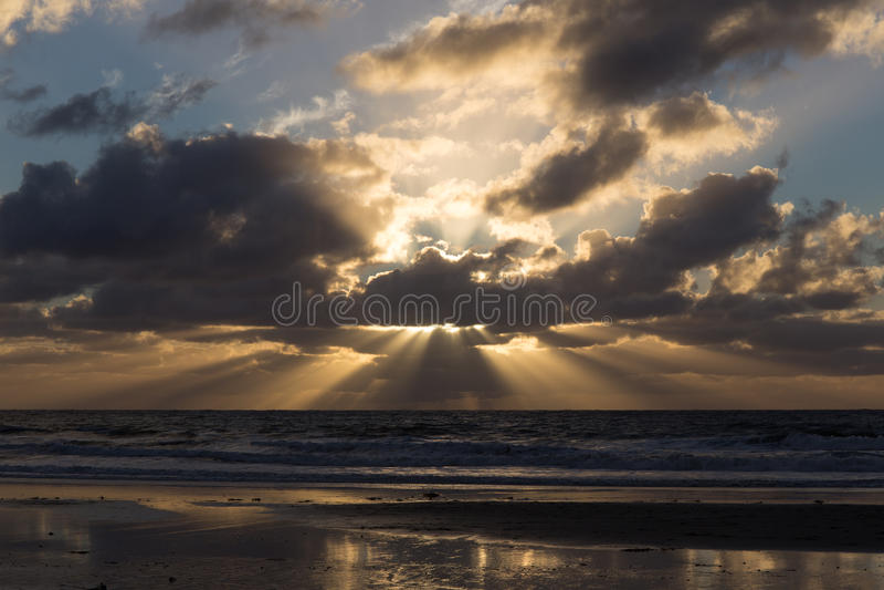 Zonsondergang bij San Diego County stock foto's