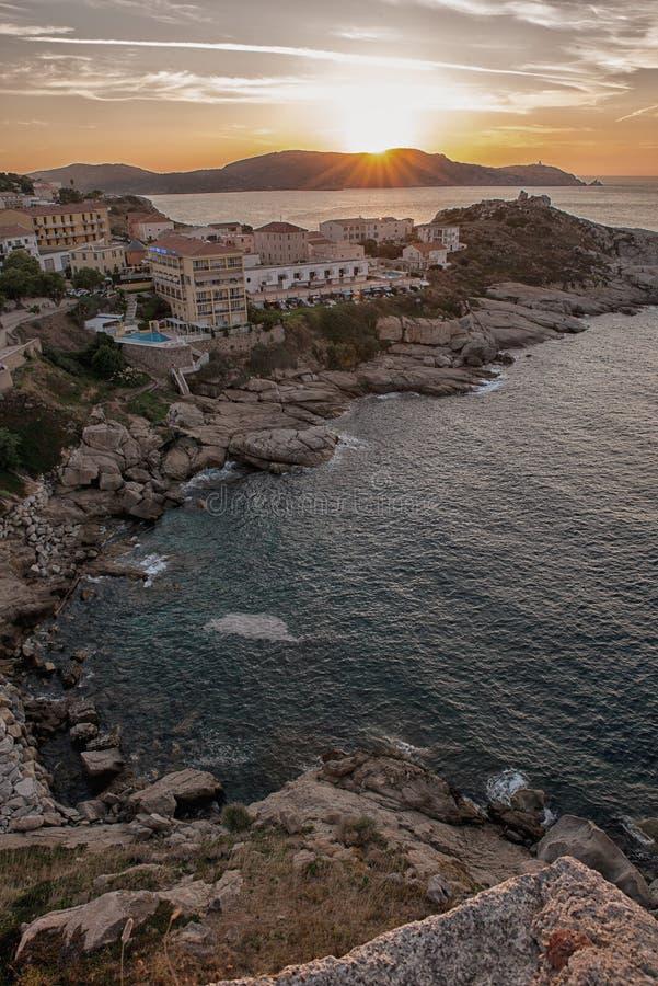 Zonsondergang bij vakantie royalty-vrije stock foto's