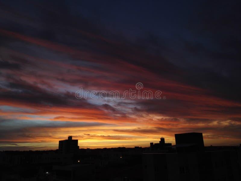 Zonsondergang Brazilië stock afbeeldingen