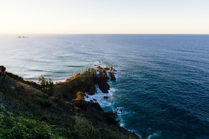 Zonsondergang in Byron Bay stock foto