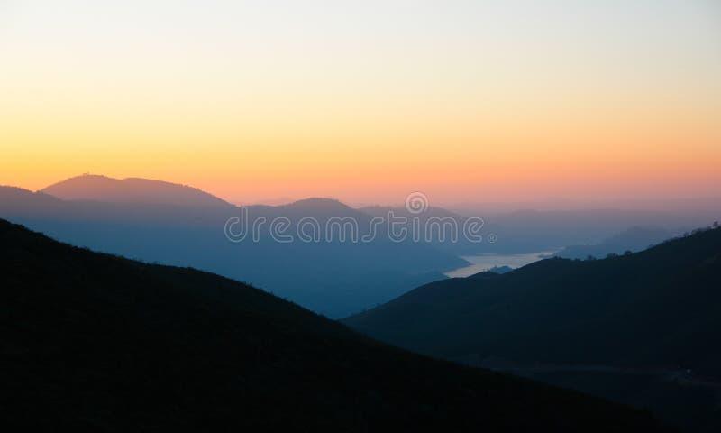 Zonsondergang in Californië royalty-vrije stock foto's