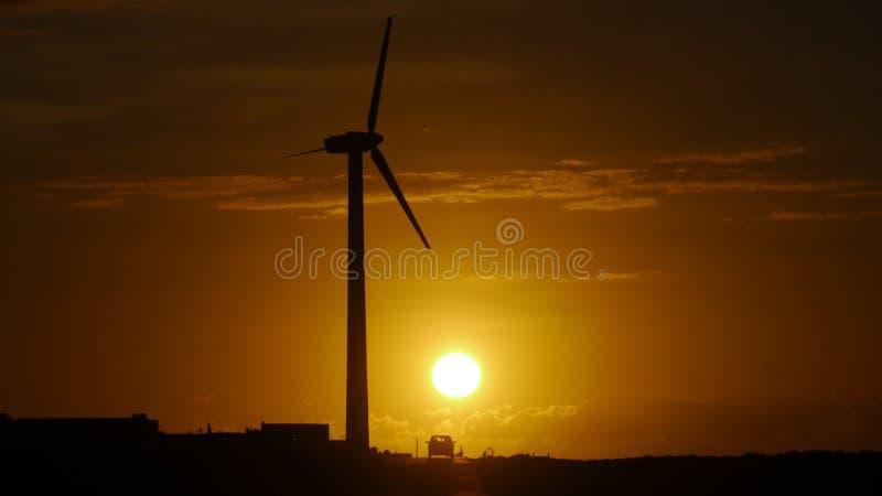 Zonsondergang in Canarische Eilanden royalty-vrije stock afbeeldingen