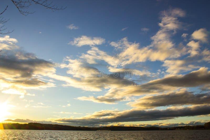 Zonsondergang in Clemson stock afbeeldingen