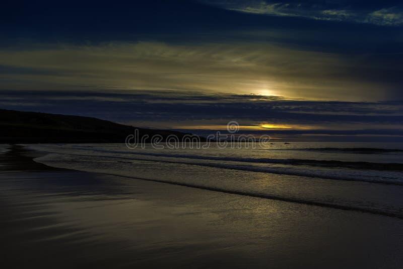 Zonsondergang in Cornwall/St Ives stock foto's