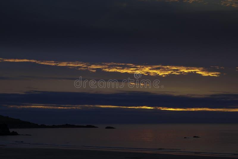 Zonsondergang in Cornwall/St Ives stock fotografie