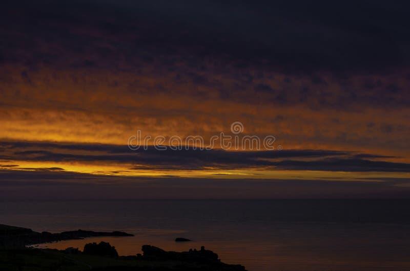 Zonsondergang in Cornwall/St Ives royalty-vrije stock fotografie