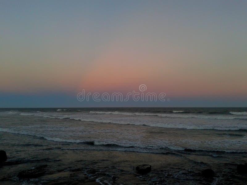 Zonsondergang in Costa del Este, Buenos aires, Argentinië royalty-vrije stock fotografie