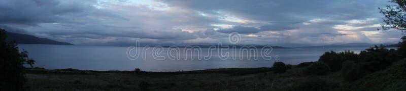 Zonsondergang in Craignure-Baai stock afbeeldingen