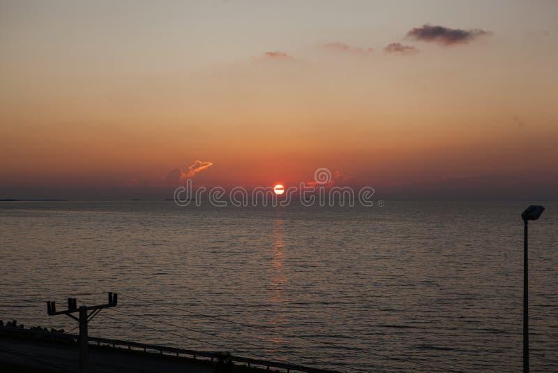 Zonsondergang in Cuba stock fotografie
