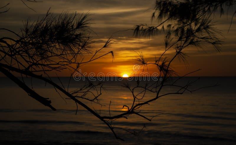 Zonsondergang Darwin Australië stock afbeelding