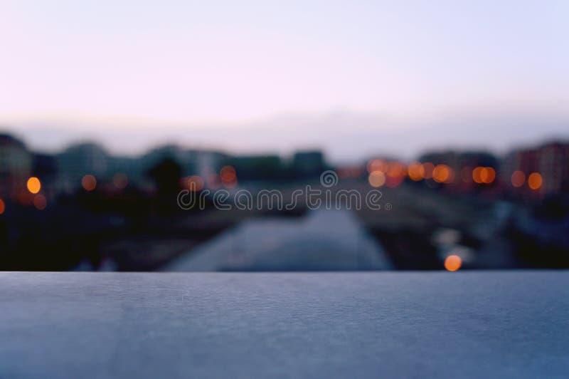 Zonsondergang de achtergrond van Bokeh royalty-vrije stock afbeelding