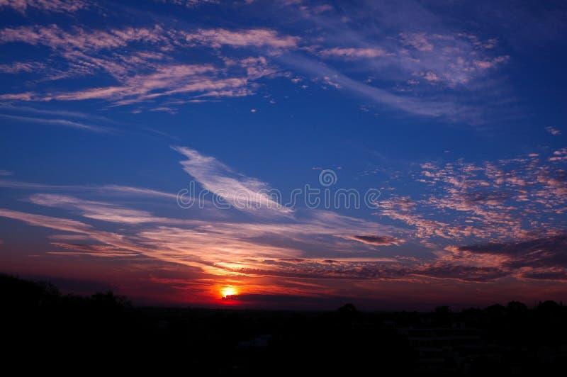Zonsondergang in de Baai van Sydney stock foto