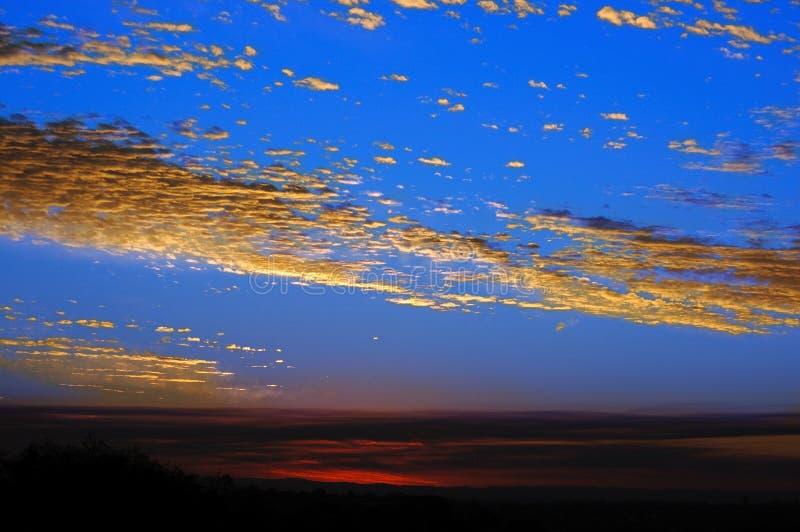 Zonsondergang in de Baai van Sydney royalty-vrije stock fotografie
