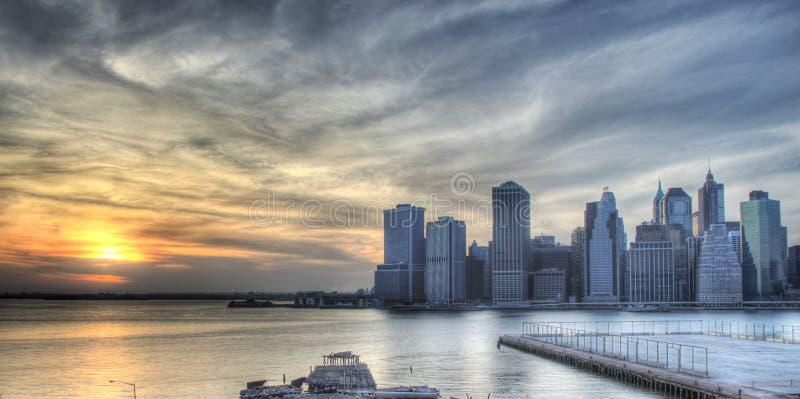Zonsondergang in de Stad van New York