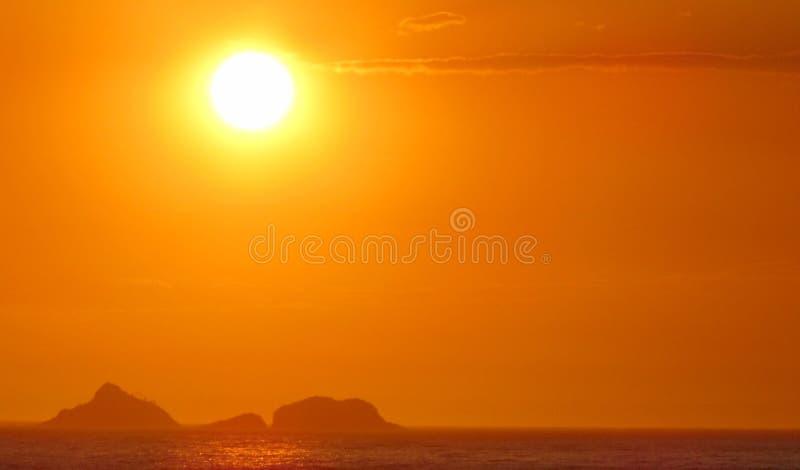 Zonsondergang en de Zomer stock afbeelding
