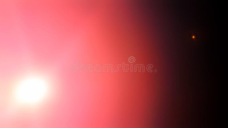 Zonsondergang en moonrise van de Aardzonsondergang de middag van de achtergrondzon en maanconceptenzonsondergang op zee op de roz stock afbeelding