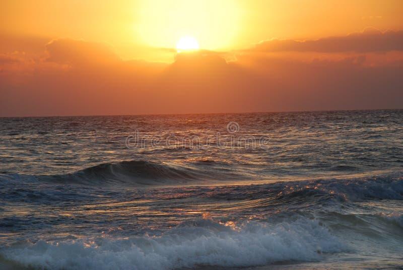 Zonsondergang in Florida stock foto's