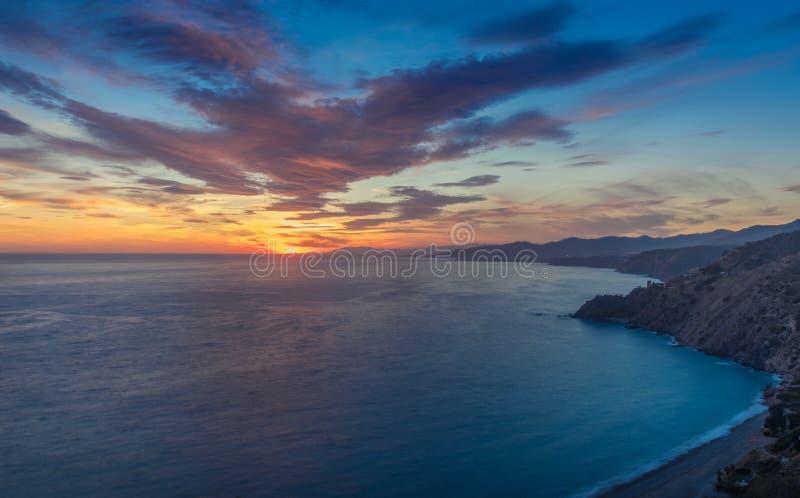 Zonsondergang in het Westen stock afbeeldingen