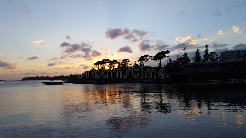 Zonsondergang in Ierland royalty-vrije stock afbeeldingen
