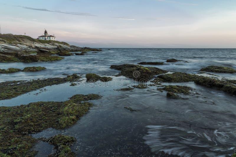 Zonsondergang in Jamestown RI stock foto's