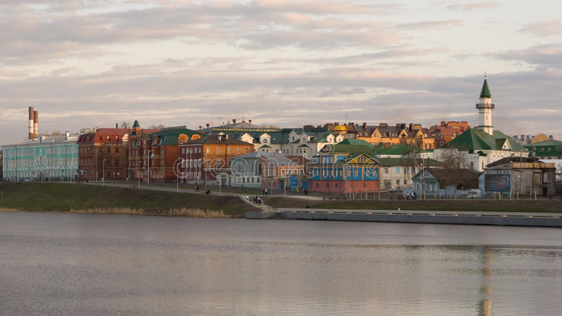 Zonsondergang in Kazan stock foto's